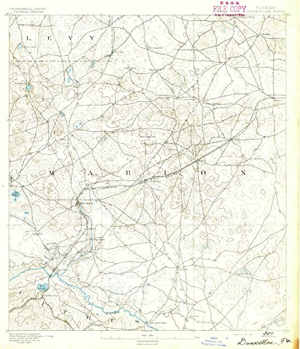 Florida Maps - 1892 Dunnellon, FL - USGS Historical Topographic Wall Art : 24in x 30in