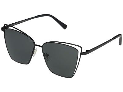 DIFF Eyewear Becky III (Black/Grey) Fashion Sunglasses