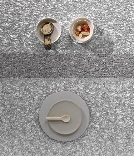 Chilewich Tischläufer Mettalic Lace Silver 33 x 178 cm