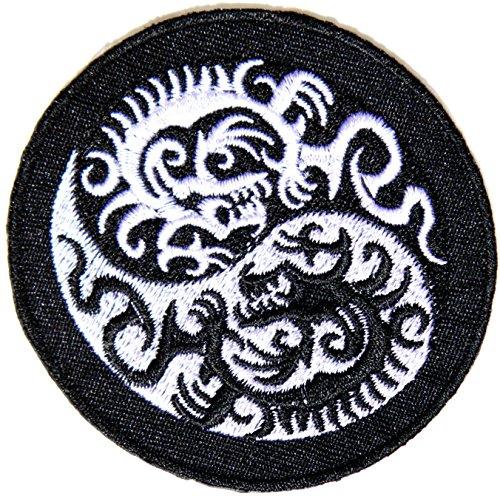 Chinese Dragon Yin Yang Kung Fu Teak Wan Do Tatoo Logo Back Jacket T-shirt Patch Sew Iron on Embroidered Sign Badge Costum Gift