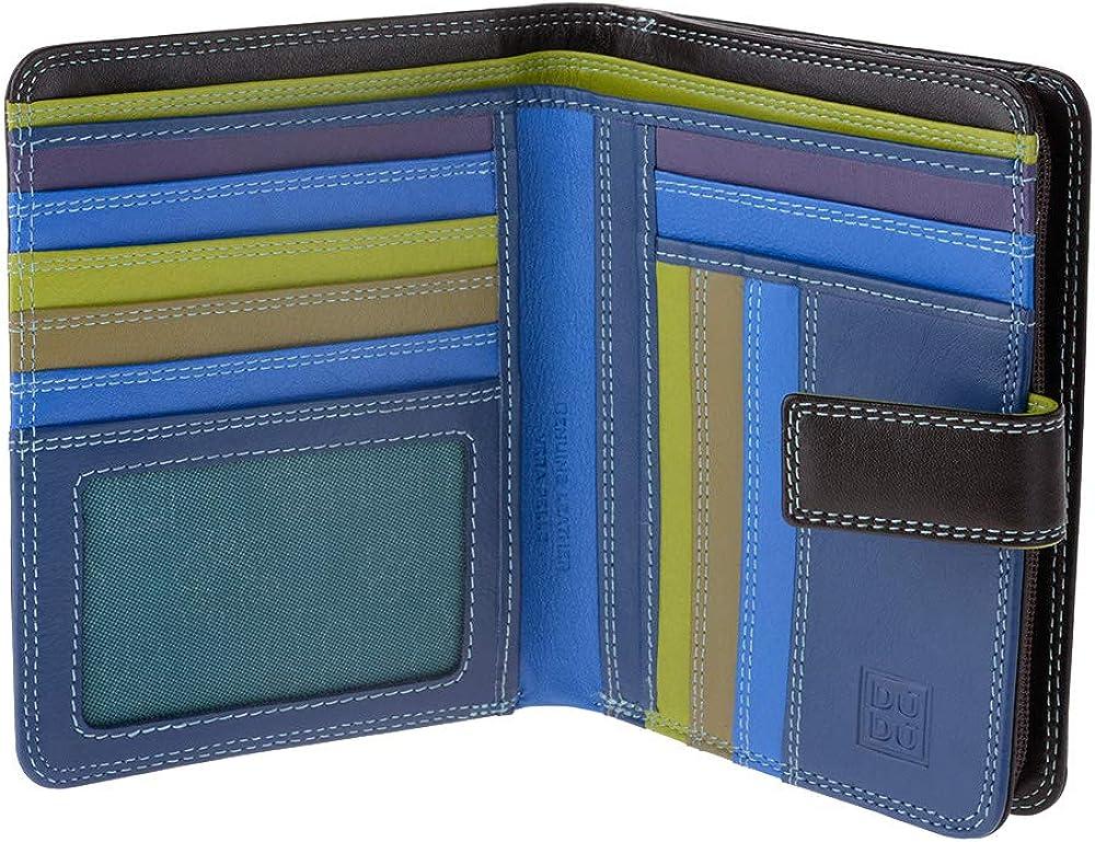 Dudu, portafoglio, porta carte di credito per donna, con protezione rfid, multicolore,  in pelle morbida 8031847155693