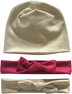 Baby Girl Headbands with bow and Hat, for Newborn, Toddler and Children's Soft Headwrap Hair Accessories
