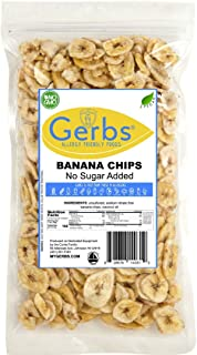 Gerbs Banana Chips Unsweetened, 14oz – Unsulfured & Preservative Free