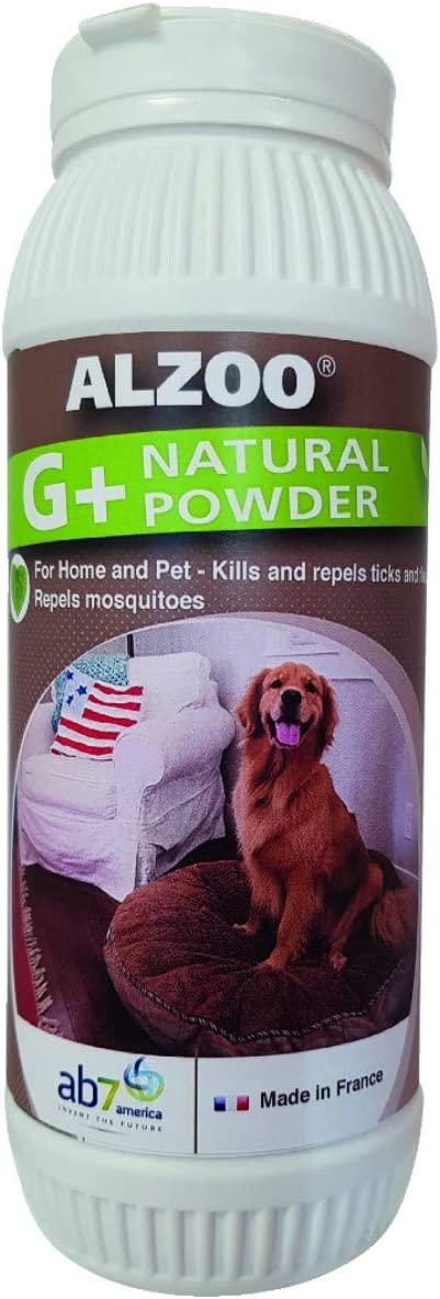 Alzoo Natural G+ Environment Powder - 8oz - Naturally Repels and Kills Fleas and Ticks in The Home and pet environments, Great for Carpet and Furniture