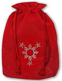 Allgobee Large Christmas Bag Philippines Tribal Sun Velour Santa Sack Drawstring Bags Jewelry Pouches