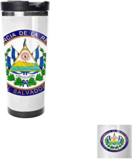 Coat of Arms of El Salvador Travel Coffee Cup, Hot, Drinking Cup, Female Male,Double stainless steel vacuum insulation,Thermos cup-18 oz-511ML