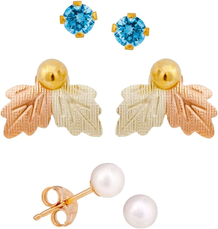Black Hills Gold Birthstone Earrings