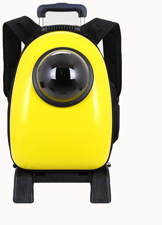 Pet Space Backpack Pet Bag Breathable Out Cat Bag Dog Bag Double Shoulder Bag Trolley Bag