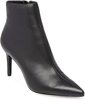 STEVEN by Steve Madden Womens Logic Suede Pointed Toe, Black Leather, Size 9.5 US