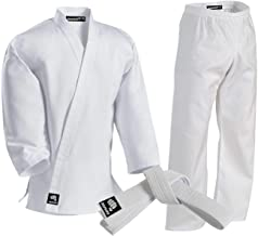 Bold Look Kids Martial Arts//Karate Solid Color White Belt For GI//Uniform Size 1