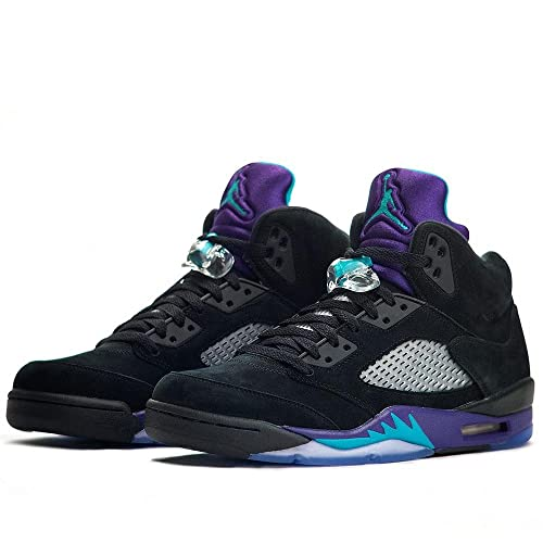 factory price bc027 8d09c Nike Air Jordan Retro 5 Black Grape Emerald Men Size 14