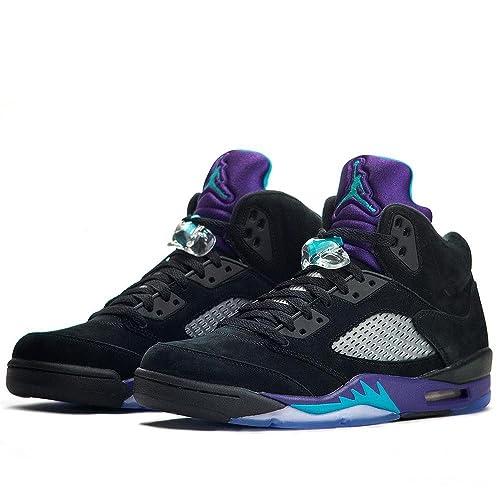 factory price 591d3 da808 Nike Air Jordan Retro 5 Black Grape Emerald Men Size 14