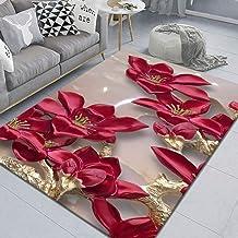 LHGBGBLN 3D Printing Carpet Flower Branch red Flower Bedroom Living Room Non-Slip mat Corridor Floor mat Door mat Flower C...