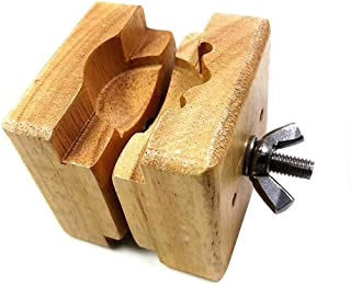 Pukido Adjust Mini Wooden Clamp Movement Repair Tool Watch Case Holder Vintage Square Opener Vise Watchmaker - (Brand: New)