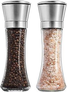 Salt and Pepper Grinder - Premium Stainless Steel Salt and Pepper Mill with Adjustable Coarseness - Salt Grinder and Peppe...