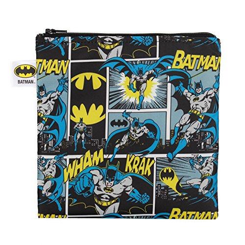 Bumkins DC Comics Batman Sandwich Bag / Snack Bag, Reusable, Washable, Food Safe, BPA Free, 7x7 , Pack of 1