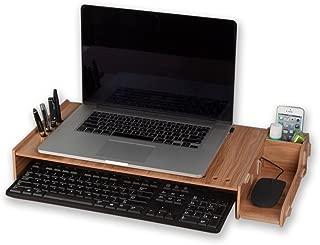 INANA 机上台 コンピューター ノートパソコン ディスプレーを高まるラック モニターラック 机上収納 高さが7CMを追加可能 猫背を防ぐ 発色が超綺麗 (ブラウン)