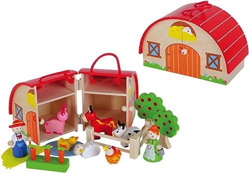 Spiel für Kinder Spielhaus  Der fr iche Bauernhof aus Holz