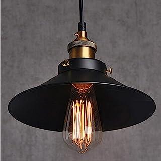 E27 Métal Retro Suspension Luminaire Vintage Plafonniers Lustre Eclairage de Plafond Edison Culot E27 Noire Luminaires Pla...