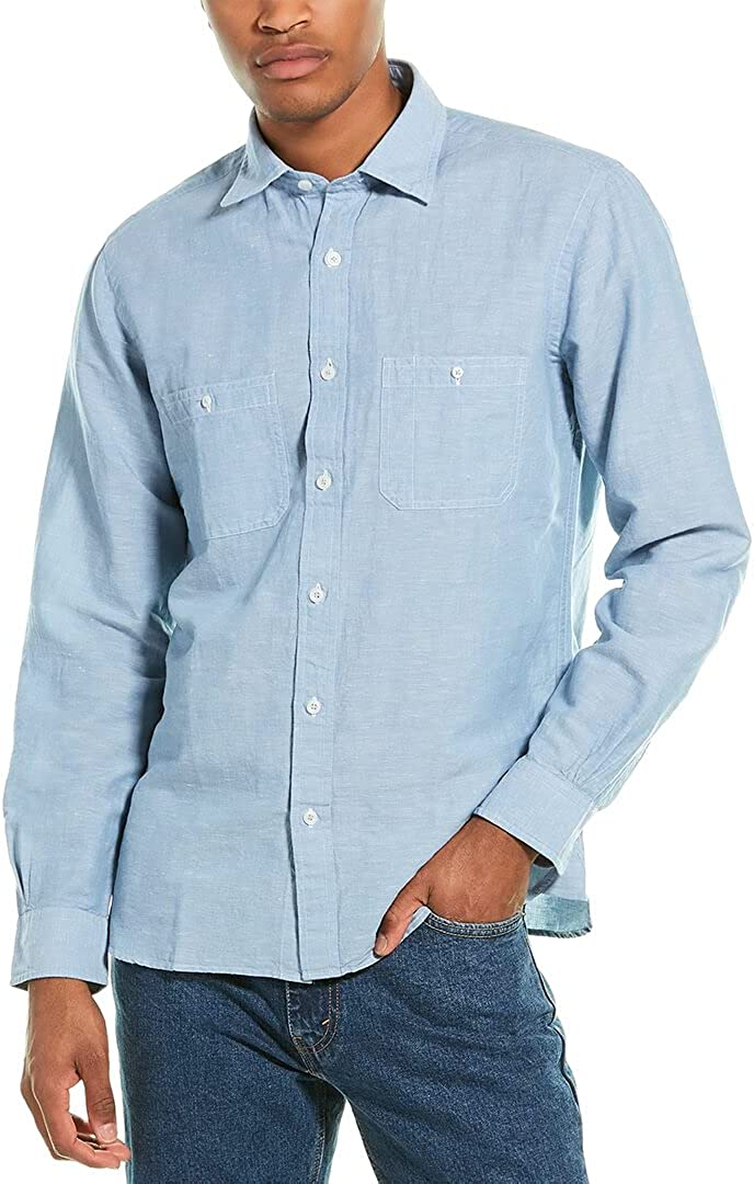 Brooks Brothers Traditional Fit Linen-Blend Woven Shirt
