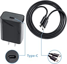 Fast Quick Wall Charger 3.0 Works with Xiaomi Pocophone F1 Kit with USB TypeC Port and Cable. [20W / Black]