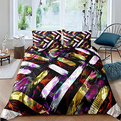 dsgsd funda nórdica Púrpura floreciente creativo. Cama de matrimonio: 180x220cm Juego de ropa de cama Funda de edredón Sábana Fundas de almohada Juego de ropa de cama Ropa de cama Textiles para el hog