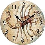 Decoración del hogar Scorpio Constellation Space Reloj de Pared Redondo Vintage Reloj silencioso sin tictac