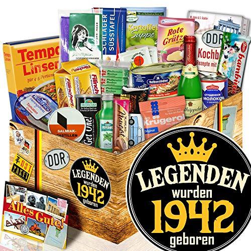 Legenden 1942 - Geburtstagsideen für Männer - DDR Spezialitäten Box