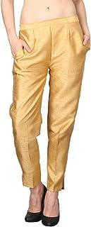 Shararat Women Cotton Silk Narrow Bottom Casual Ethnic Trousers