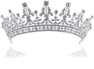 Frcolor Wedding Crown Tiara - Rhinestone Princess Bride Headband Headpiece