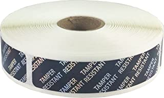 Holographic Tamper Resistant Labels for Product Packaging .75 x 3.5 Inch Small Rectangles 500 Adhesive Stickers On A Roll