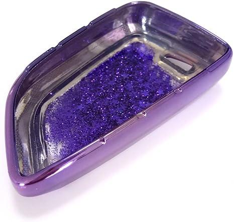 Thor Ind Glänzende Glitzernde Quicksand Tpu Schlüsselhülle Für Bmw 2 5 7 Serie X1 X5 X6 3 4 Tasten Keyless Entry Control Smart Key Schutzhülle Shell B Typ Violett Elektronik