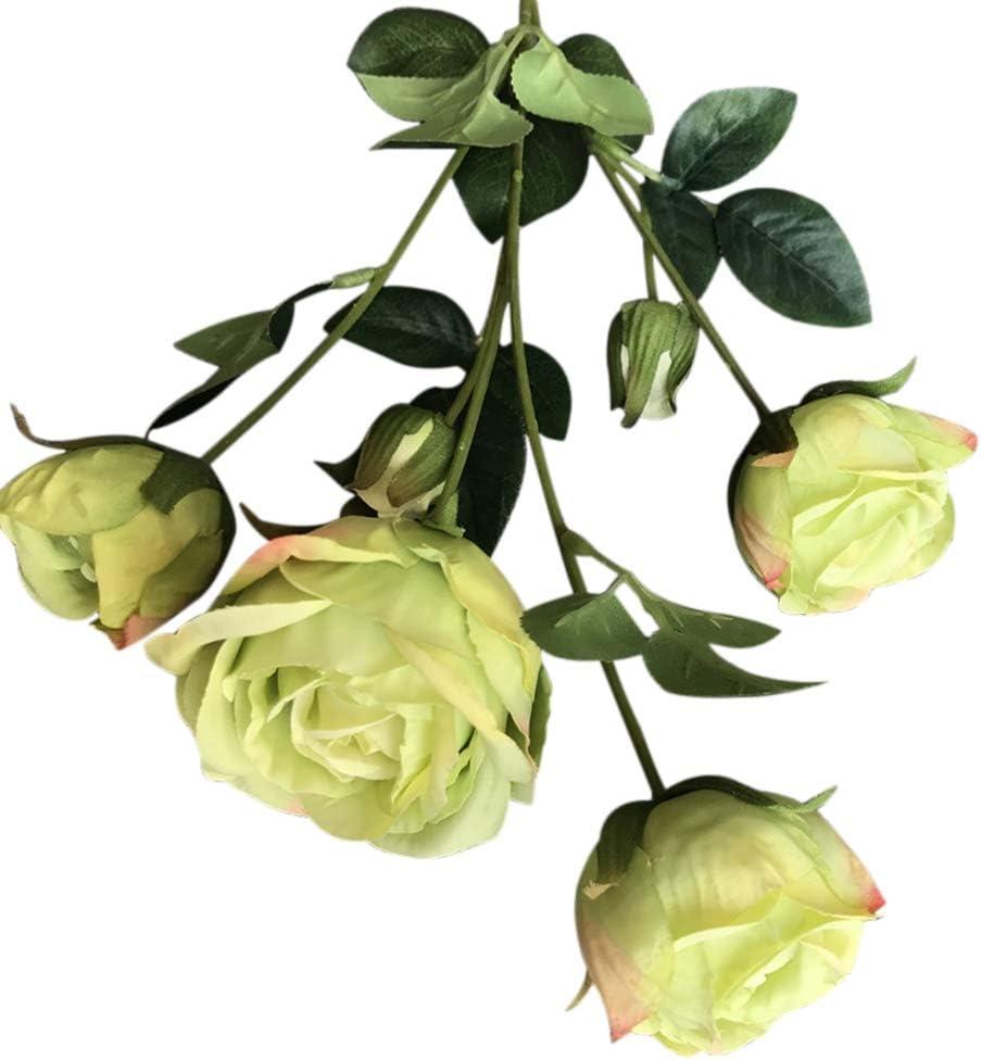 Some reservation Norbi 5 pcs Artificial Finally popular brand Flower Multi-Headed Fake Flo Rose Flowers