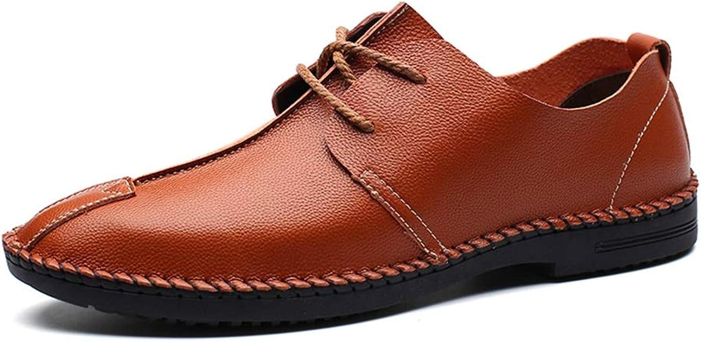 2018 Mens Mens Mens schuhe, Oxford-beiläufige Mode-leichte weiche Breathable Lace-up Formale Schuhe der Männer (Farbe   Braun, Größe   42 EU)  1e42d9