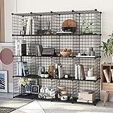 HOMEYFINE, Organizador de Cubos de Alambre (16 Cubos), estantería metálica...
