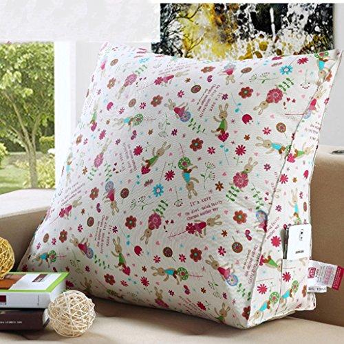Oreiller triangle multicolore, coussins de canapé de chevet, oreiller de lecture de taille (Couleur : #3, taille : 60 * 22 * 50cm)