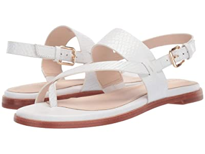 Cole Haan G.OS Anica Thong Sandal (Optic White Snake Print) Women