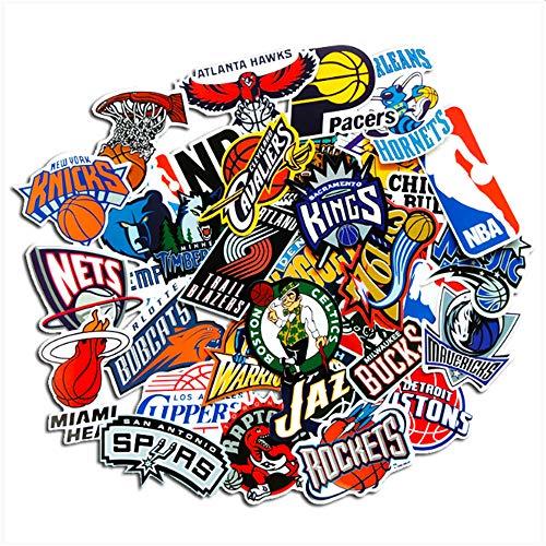 ZAQ 32 Adesivi NBA Veterano Logo Valigia Chitarra Pannello Notebook Custodia per Cellulare Adesivi Impermeabili da Parete per Computer