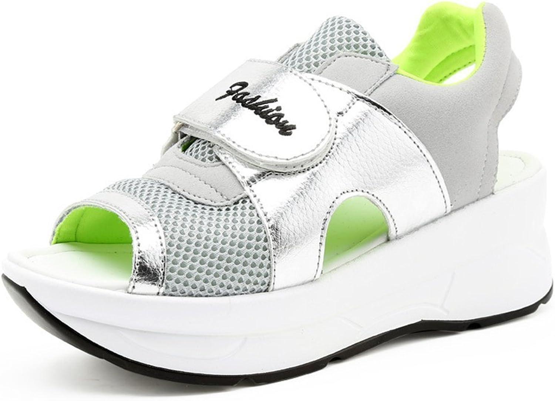 Brilliant sun Women's Velcro Summer Sandals Hidden Heel Wedges Platform Sneakers