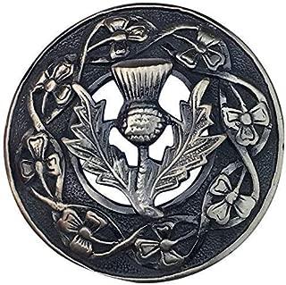 Noeud Celtique Kilt Mouche Plaid Broche Lindisfarn///Écossais Fly Plaid Broches Lindisfarne Finition Chrome Broche