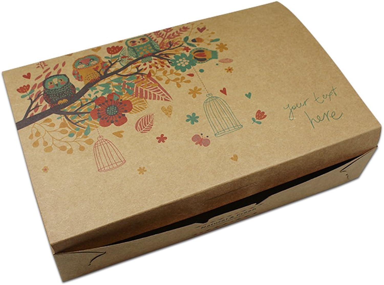 20 Stück Braun Kraftpapier Box mit Eule Motiv Motiv Motiv Geschenkbox Kästchen aus Kraftpapier Geschenkverpackung Süßigkeiten Nuss Schokolade Verpackung Kasten (16.5x24.75cm) B078W5JR8C  | Zu einem niedrigeren Preis  b85b3b