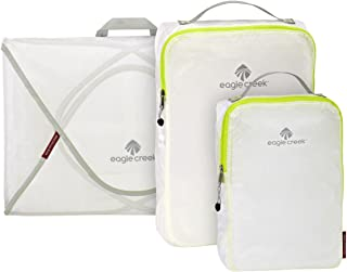 Eagle Creek Pack-It Specter Packing Organizer Starter Set , White/Strobe, Set of 3