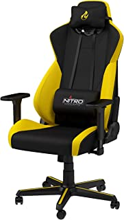 Nitro Concepts S300 ゲーミングチェア オフィスチェア 日本正規代理店品 ファブリック 布 イエロー NC-S300-BY-JP