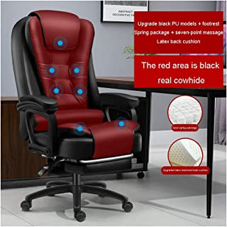 Office Chair Ergonomic Desk Chair,Business Chair with Massage Function,Lumbar Support Modern Executive Adjustable Stool Ro...