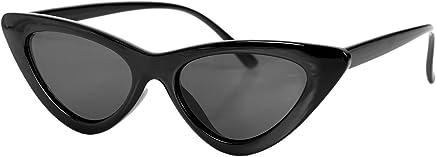 TOOGOO Occhiali da Sole Vintage da Donna Cat Eye Eyewear Retro Sunglass Female UV400 Occhiali da Sole S17062 Nero Frame Nero