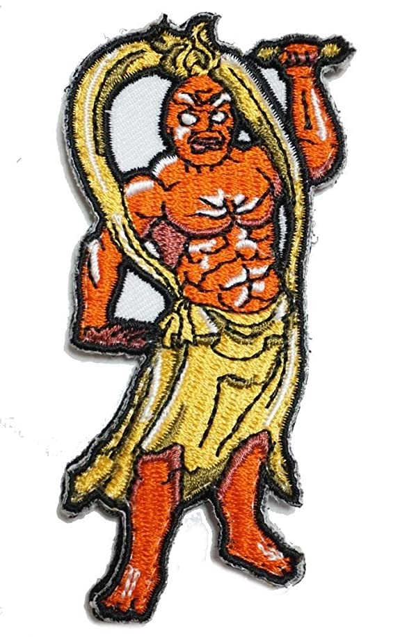 [Japan Import] 100% Embroidery Verclo Patches Kongo-Rikishi Statue A0276