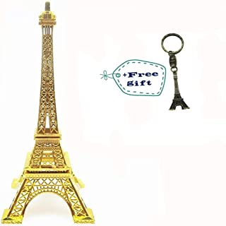 Eiffel Tower Paris France Metal Stand Statue Model for Home Decor or Wedding Theme (Gold)