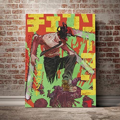 DMXY Cadenas de rollo para motosierra, 50 x 70 cm, lienzo sin marco.