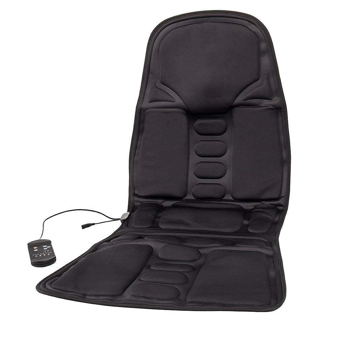 気づくリズミカルな協力するBestjunly マッサージシート 車 カーシート 12V 黒 8段階マッサージモードフリー交換 座席ヒートクッション ヒーター搭載 高品質 ブラック