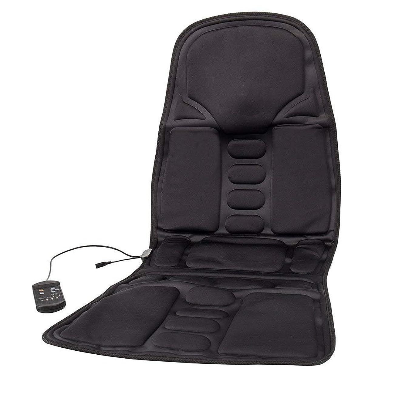 植物学者予測クリックBestjunly マッサージシート 車 カーシート 12V 黒 8段階マッサージモードフリー交換 座席ヒートクッション ヒーター搭載 高品質 ブラック